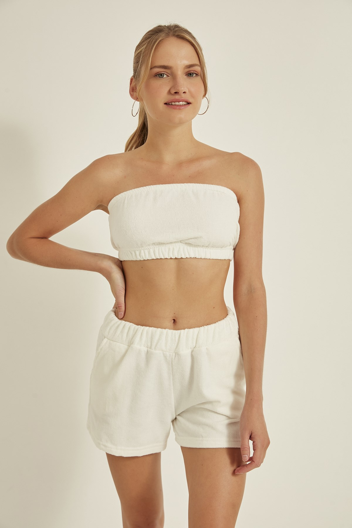 C&City Women Knitted Strapless Bustier 715