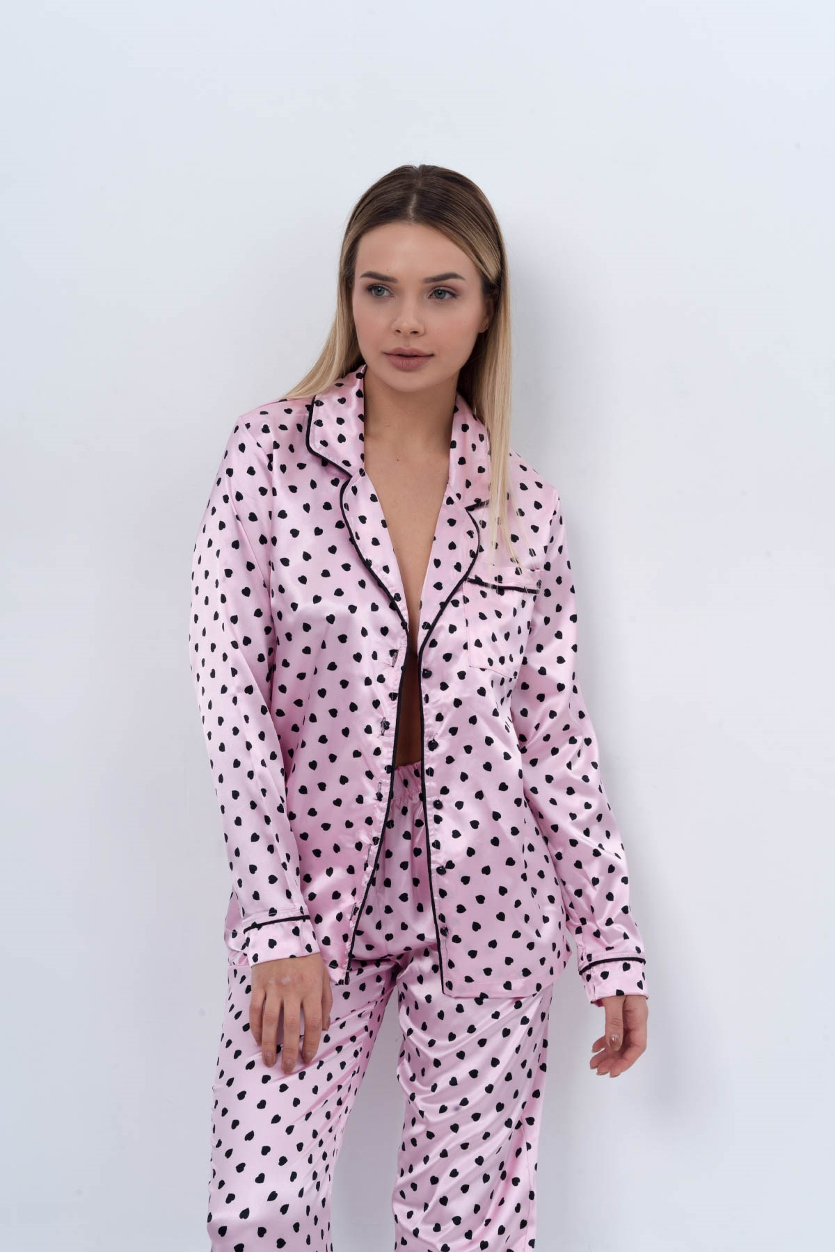 C&City Women Satin Pyjama Set 9054