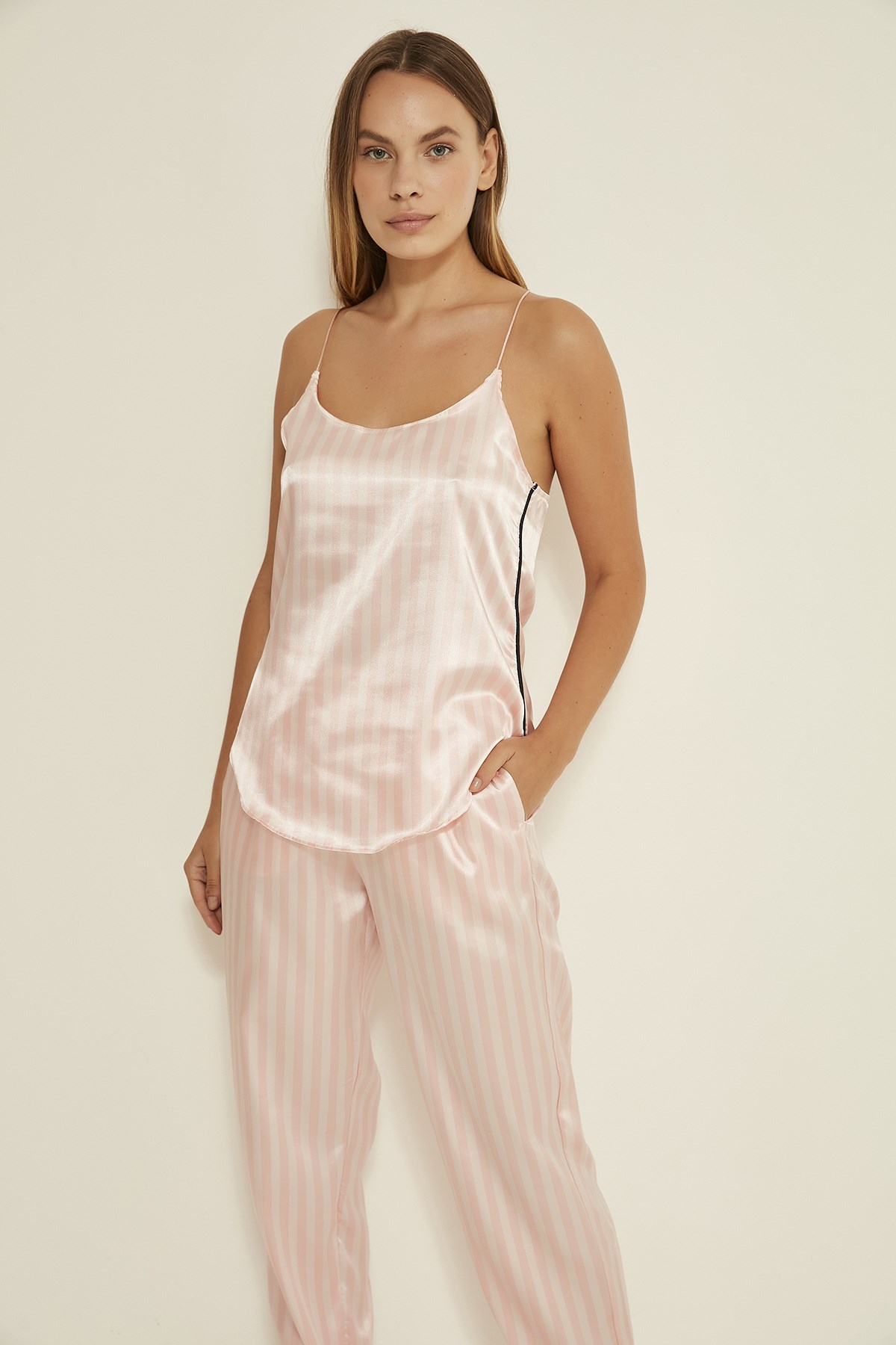 C&City Women Satin Pyjama Set Ruby Bristol