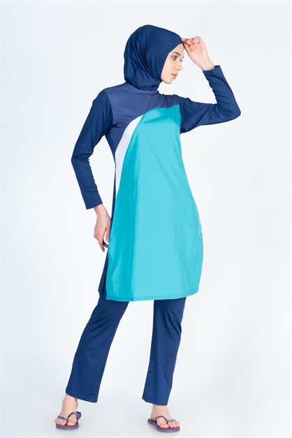 Alfasa 253 Trousers Long Covered Islamic Burkini Swimsuit