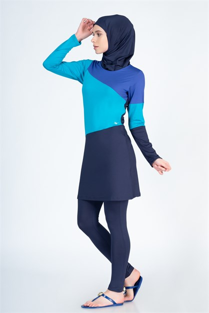 Alfasa 262 Tights Long Covered Islamic Burkini Swimsuit