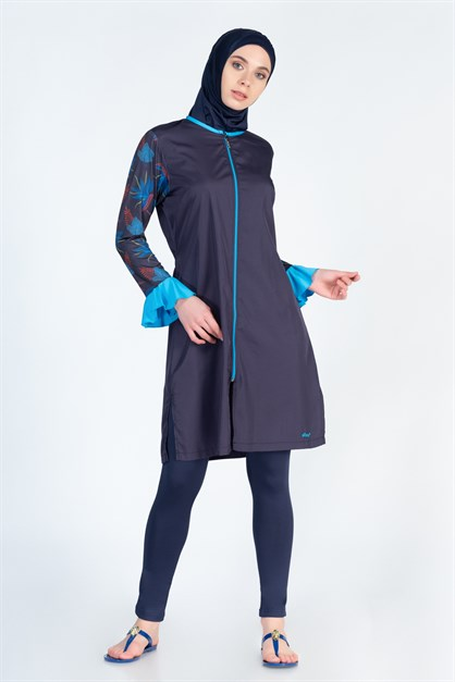 Alfasa 270 Tights Covered Islamic Burkini Swimsuit