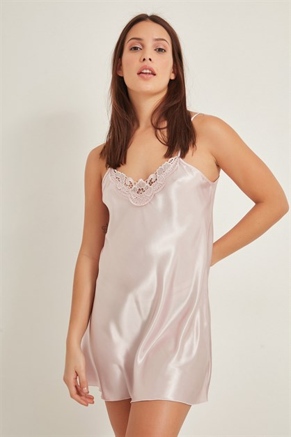 C&City Women Satin Nightgown 005