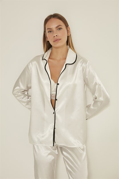 C&City Women Satin Pyjama Set 035