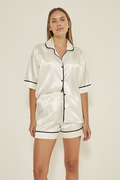 C&City Women Satin Pyjama Set 040