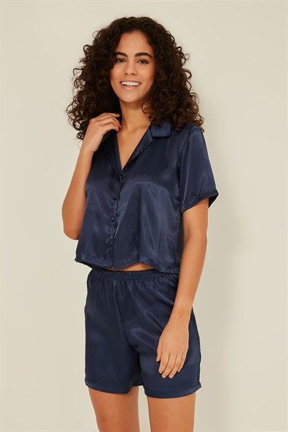 C&City 044 Women Crop Pyjama Set