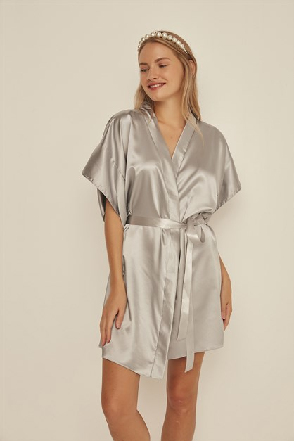 C&City Women Satin Dressing Gown 050