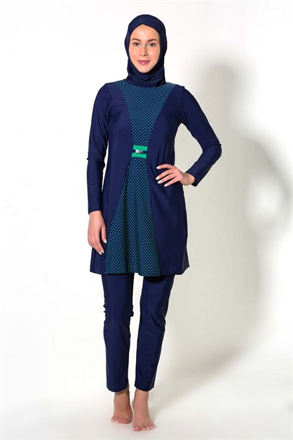 C&City 7287-2 Covered Islamic Burkini Swimsuit