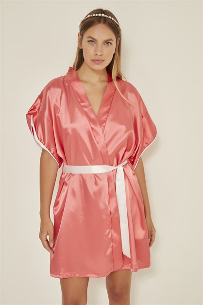 C&City Women Satin Nightgown Dressing Gown Set 2 Pack Elze Meldorf