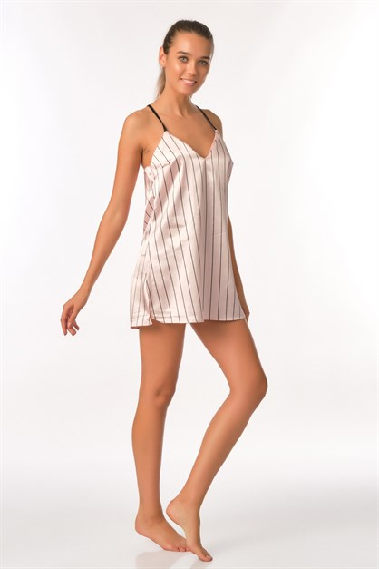 C&City Kuars Women Satin Nightgown